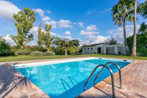 Enchanting pool area