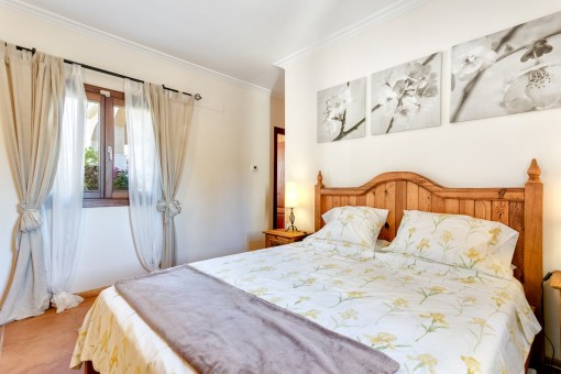 The villa has four double-bedrooms