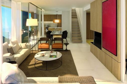 Extravagant nybyggd lägenhet i centrala Palma