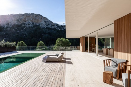 Large, private terrace