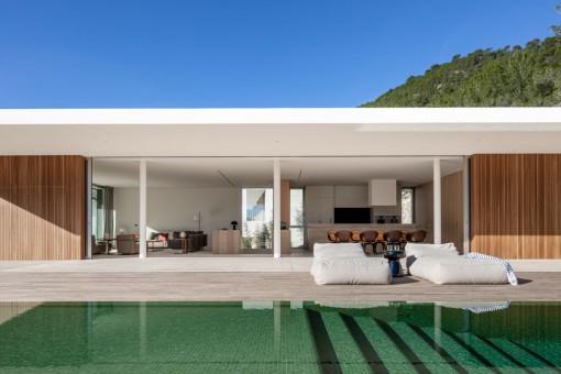 Beautiful pool with terrace