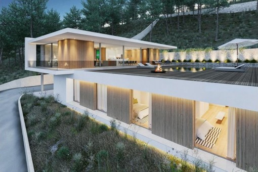 Wonderful, minimalistic newly-built villa in Son Vida, completion date Dec. 2016