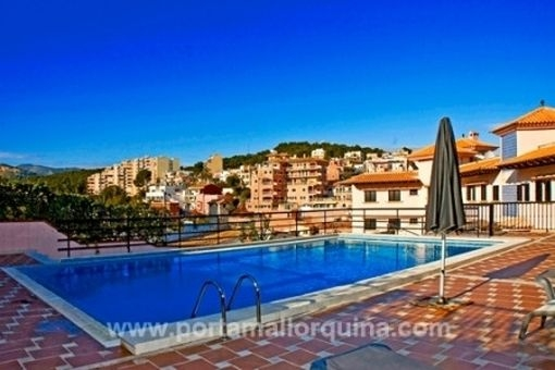 Modern apartment in a luxurious residential  complex with pool in Palma