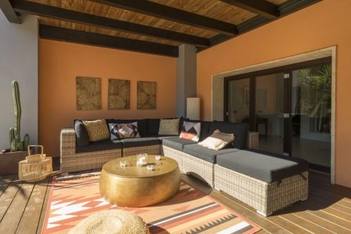 Lounge area on the terrace