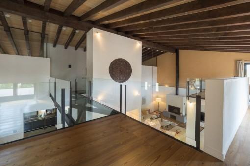 Impressive gallery on the upper floor