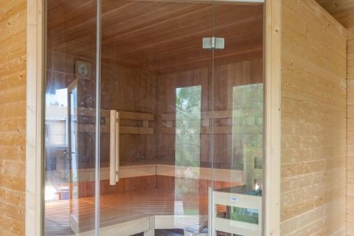 Exterior view of the sauna