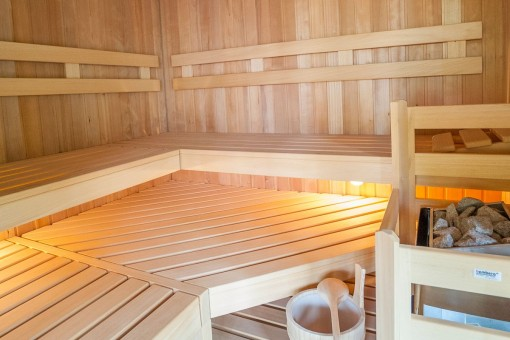 The new sauna invites to relax