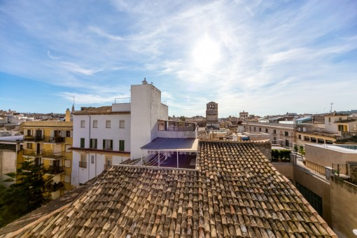 Fantastic views over the roofs of Palma