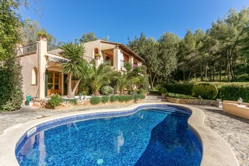 Bekväm och smakfull villa i Son Vida