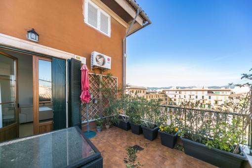 Exklusiv penthouse på Placa Major-ett utmärkt tillfälle att bo i hjärtat av Palma