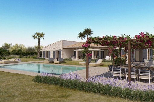 Unique finca-project with wonderful views of the Sierra Tramuntana in the heart of Mallorca's wine-growing area