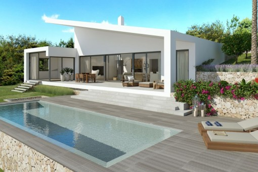 Modern, newly-built villa on one level in Cala Vinyas