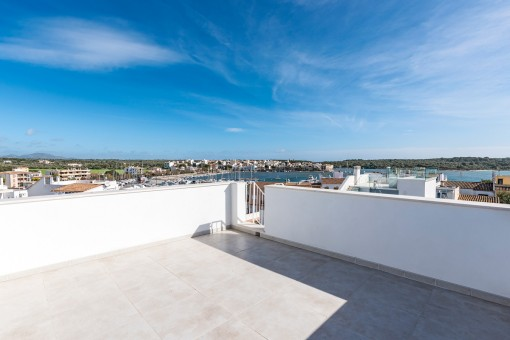 The roof terrace offers superb views