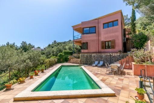 Spektakulär villa med panoramautsikt över havet i Son Servera