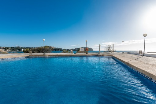 Fantastic communal pool next to the sea