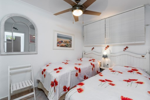 One of 2 beautiful bedrooms