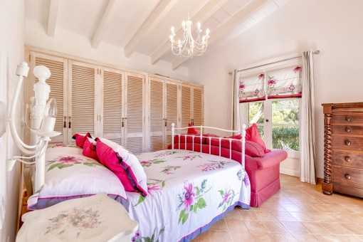 Master bedroom with built-in wardrobe