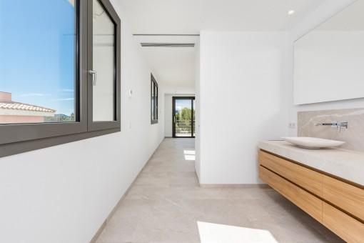 En suite bathroom with natural light