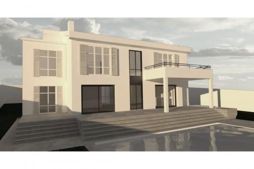 Beach house-style villa with sea views in Santa Ponsa