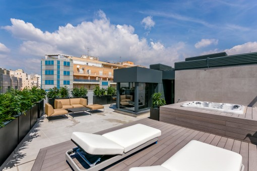 Extravagant newly-built penthouse with...