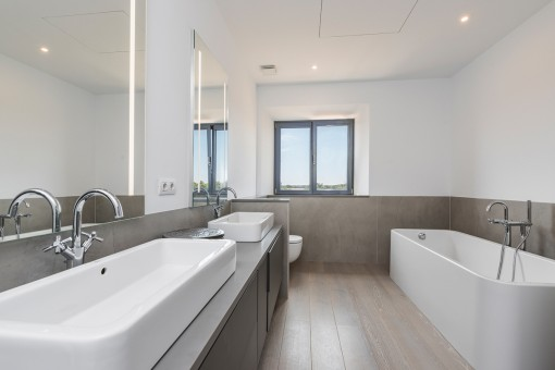 One of 5 modern-style bathrooms