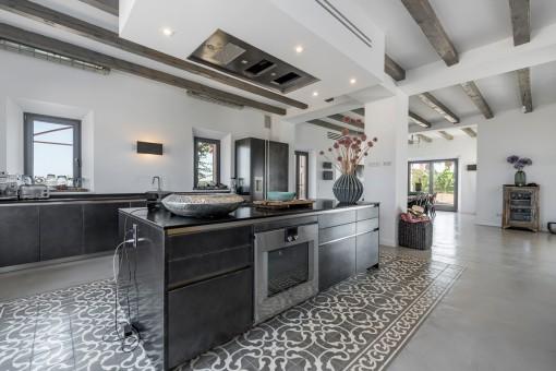 Spacious, open-plan kitchen