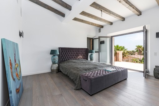 One of 5 bright bedrooms with terrace