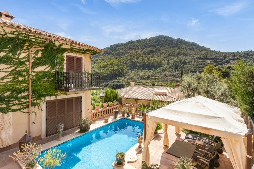 High-quality villa with pool and wonderful views in Valldemossa
