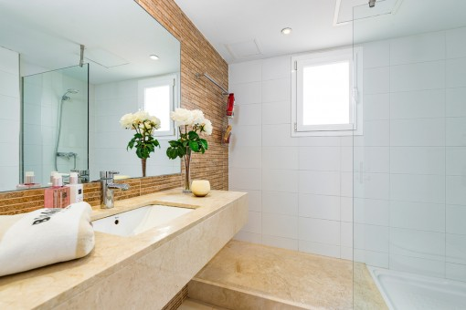 One of 4 modern bathrooms