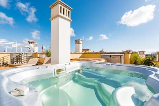 Whirlpool on the roof terrace