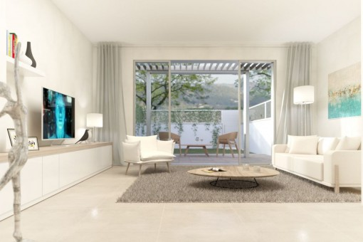 Possible view of the living area