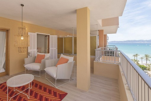 Wonderful apartment in white with beautiful sea views in s'Arenal