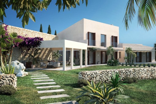 Spectacular new build country house with panoramic views in stunning surroundings in Ses Salines