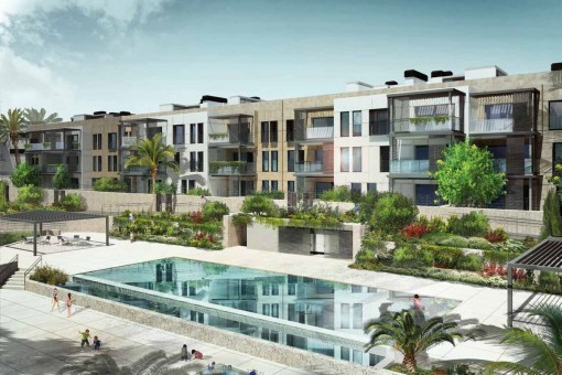 Penthouse apartment in a newly-built residential complex quietly-located close to the golf course in Son Vida