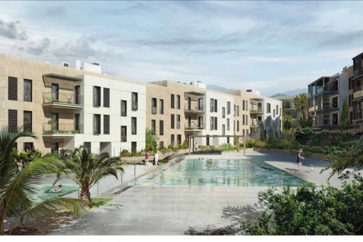 Garden apartment with 2 bedrooms in a newly-built residential complex in green surroundings on the golf course in Son Vida