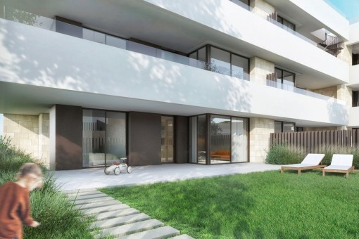 Ground floor apartment with garden in a stylish new building project on the Son Quint golf course in Son Rapinya